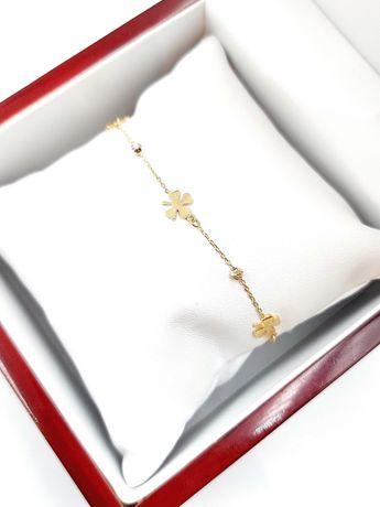 Złota bransoletka Pr. 585 Waga: 2,18 G Plus Lombard