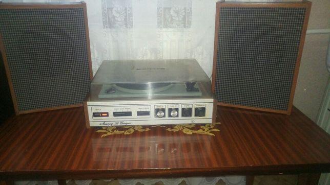 Электрофон«Аккорд-201» стерео и колонки.