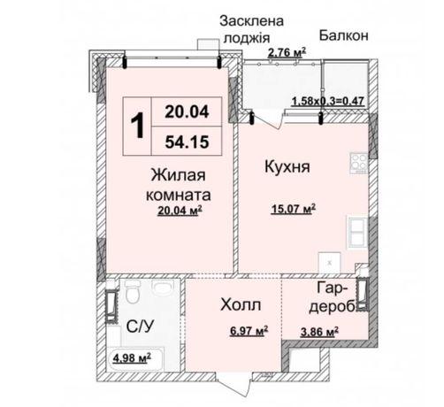 Предлагается 1-ком квартира 55 м2 в лучшем ЖК «Новопечерские Липки».