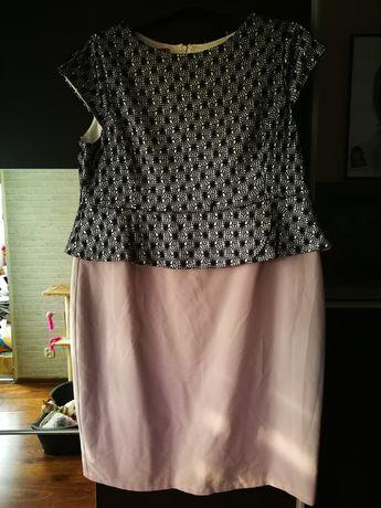 Sukienka z baskinką duży rozmiar 50