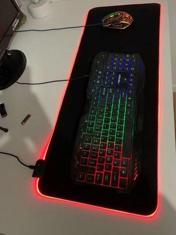 Podświetlana podkładka RGB USB - Wysyłka gratis