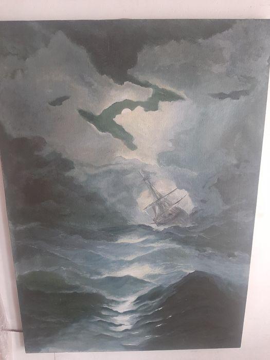 Obraz Statek na Wzburzonym Morzu Bytom - image 1