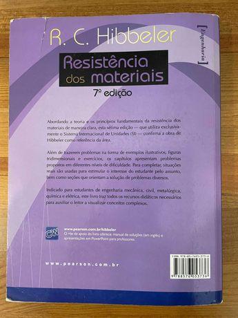 Livro para Engenharia - Resistência dos Materiais, Hibbeler 7 edição
