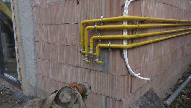 Instalacja gazowa, co, spawanie gazu, spawanie rur, przyłącz gazowy