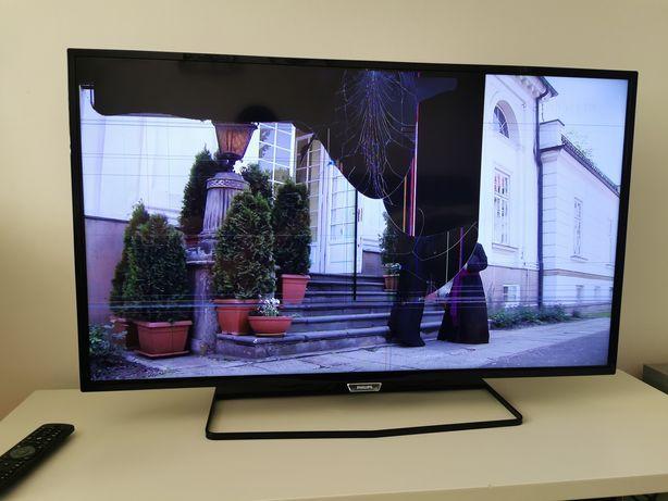 """Philips 40pfh5500/88 40"""" Android full HD DVBT uszkodzona matryca dawca"""