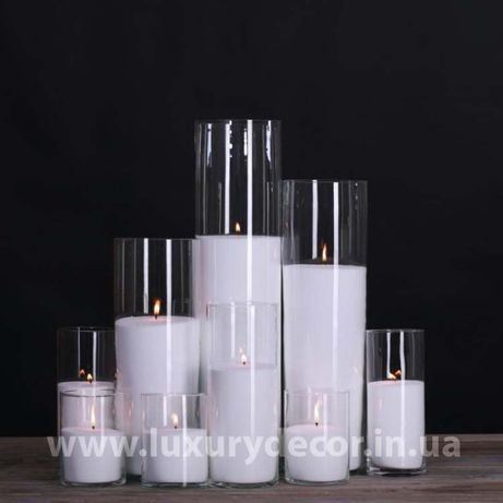 Ваза цилиндр для насыпных свечей или цветов в ассортименте