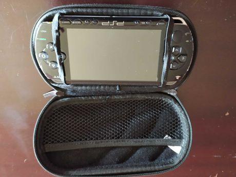 PSP com capa - NECISSITA DE BATERIA NOVA