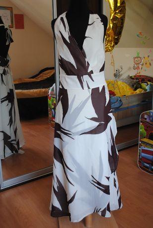 letnia sukienka maxi, rozmiar 44