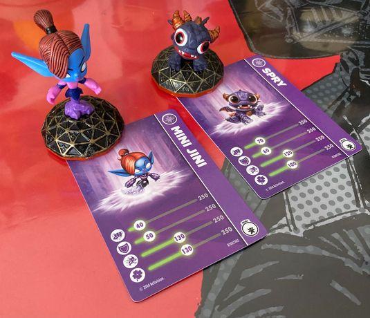 Figuras Skylanders Mini, Spry e Mini Jini