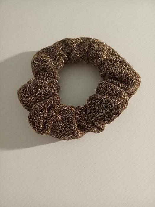 Nowe gumki scrunchy frotki czarno złote Jejkowice - image 1