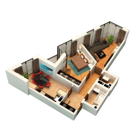 2 кім. квартира 65.31 м2 ЖК Щасливий Platinum в НОВОБУДОВІ у Львові