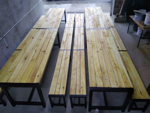 Lawki + stol