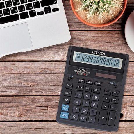 Калькулятор настольный CITIZEN SDC-888TII 12 разрядов.