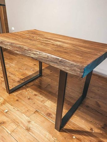 Stół kuchenny  monolit dębowy loft.
