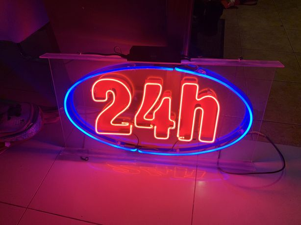 neon baner reklama 24h