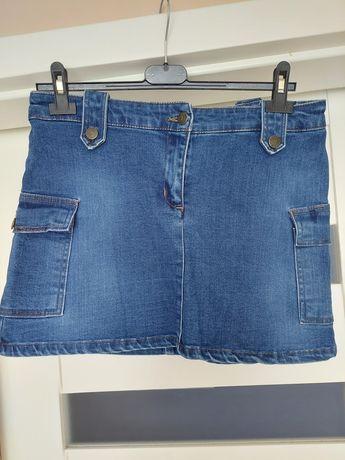 Spódniczka mini ciemna jeansowa M