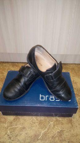 Туфли р.36 стелька 24см кроссовки туфлi кожаные для мальчика