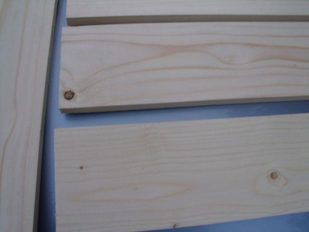 60x15 cm Surowa półka, deska heblowana - Industrialna - Wysyłka