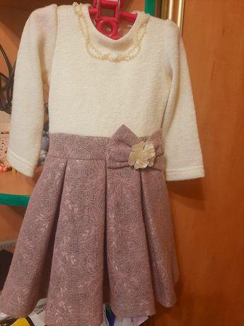 Нарядное теплое платье святкова сукня плаття 86-92 98 1,5-2-2,5г 18-24