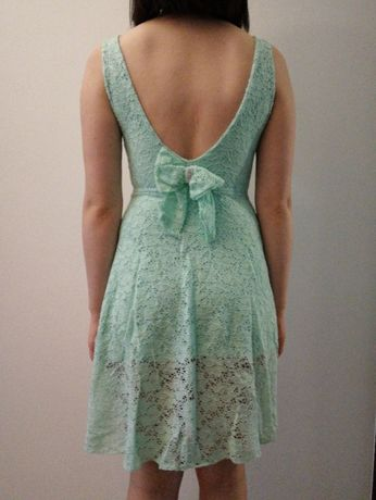 Sukienka koronkowa, miętowa, rozmiar s