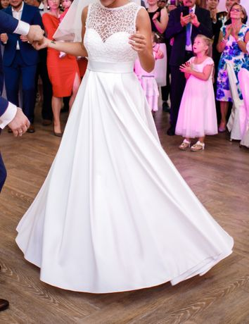 Suknia ślubna + welon + buty GRATIS