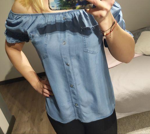 Niebieska bluzeczka/ hiszpanka oversize