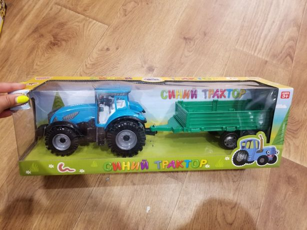 Синий трактор со звуком