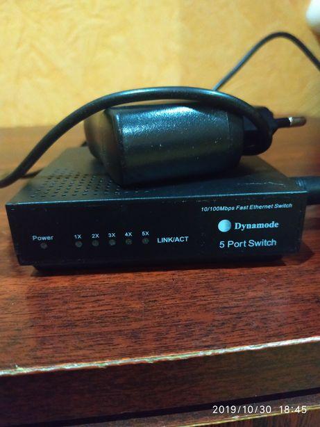 Свіч свич комутатор dynamode 5 port switch