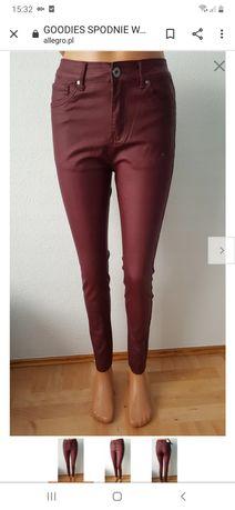 Nowe GOODIES spodnie woskowane XXL/44 bordowe
