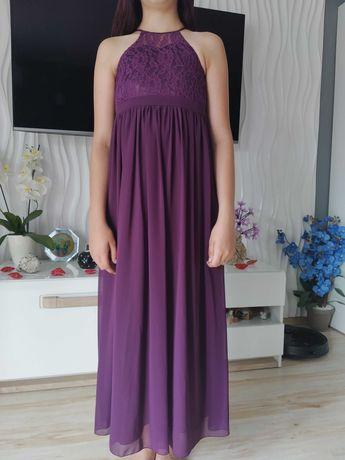 Dziewczęca długa sukienka maxi