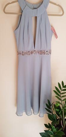 Sukienka niebieska lodowa błękitna - ELISE RYAN
