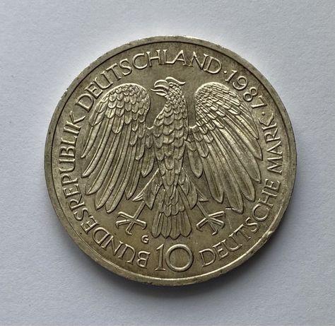 Moneta 10 marek 1987 G 30 rocznica Podpisanie Traktatów Rzymskich