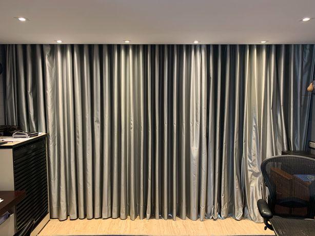 Cortinado duplo tecido(area de 5m )+black out com ou sem motor Somphy
