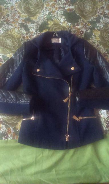 Куртка - косуха: кашимір+шкірзам