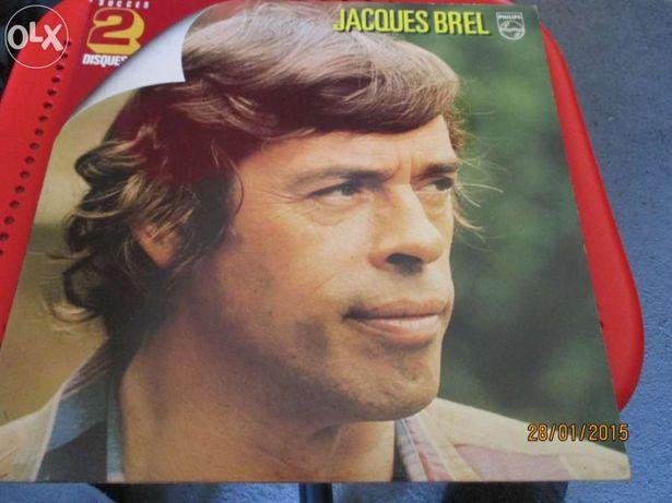 2 discos de vinil - Jacques Brel - (Duplo) e Brel