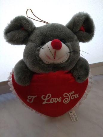 Мягкая игрушка Мышка с сердцем