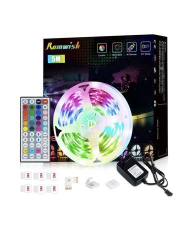 Fita LED RGB 5050 - 5/10/15M (NOVO/SELADO)