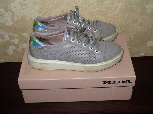 Туфли Mida на девочку, натуральная кожа, размер 37, стелька 23,5 см