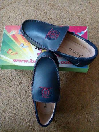 Туфли кожаные Шалунишка