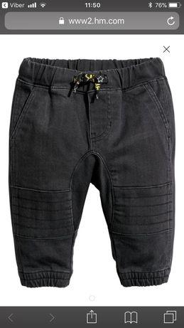 Штани, штаны, джинси, чорні, джогери, чинос, 1,5-2р, 92 ріст. H&m