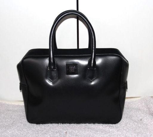 SIMPLE czarny kuferek czarna torebka skórzana skóra aktówka klasyk a4