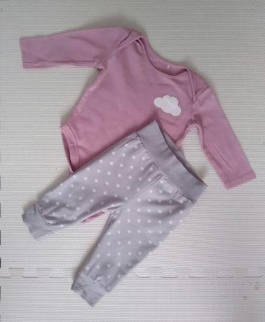 Spodnie, leginsy Pinokio 68r body różowe