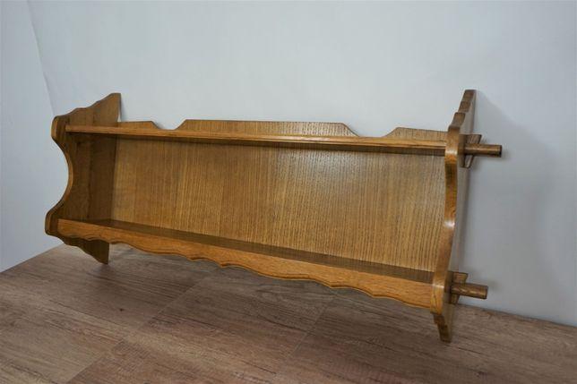 Półka wisząca dębowa lite drewno