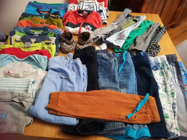 Mega zestaw paka 80/86 bdb Ikea gratis, bluzy, body, spodnie
