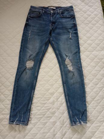 Zara spodnie jeansowe