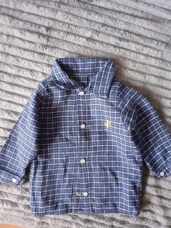 Koszula bawelniana w kratę 3-6 miesięcy