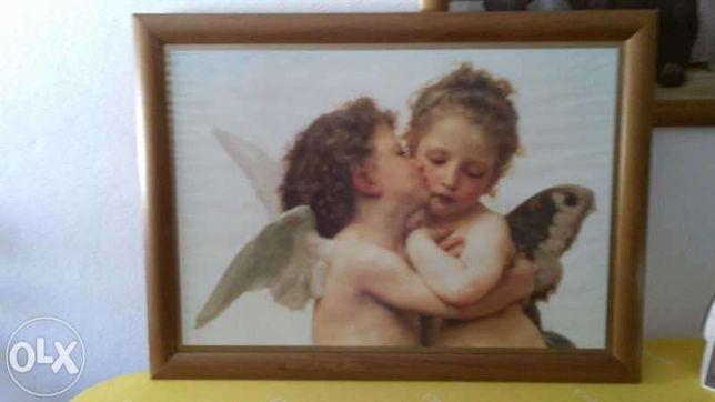 quadro de anjinhos