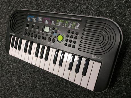 Casio SA 47 - mini keyboard, nowy, gwarancja 24 mies.