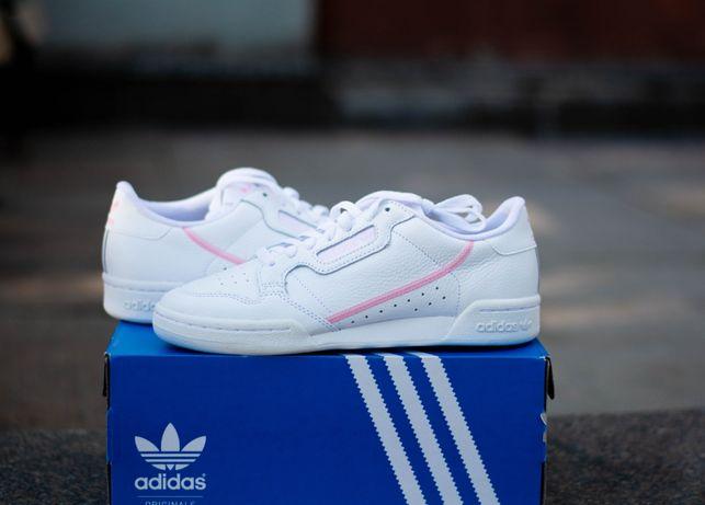Женские кроссовки Оригинал Adidas Continental 80 Кожа