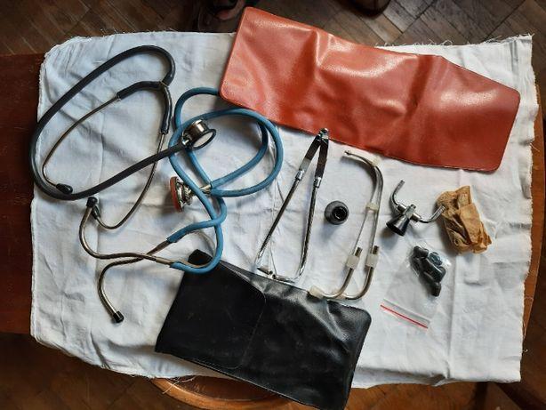 Стетоскопы медицинские (СССР) 2 шт + запчасти